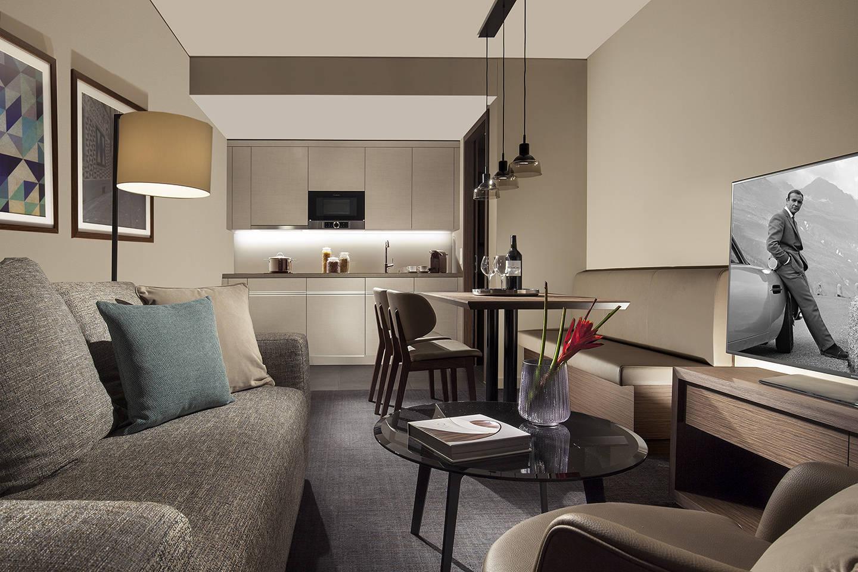 acasa suites zurich hotel rooms near zurich airport city. Black Bedroom Furniture Sets. Home Design Ideas