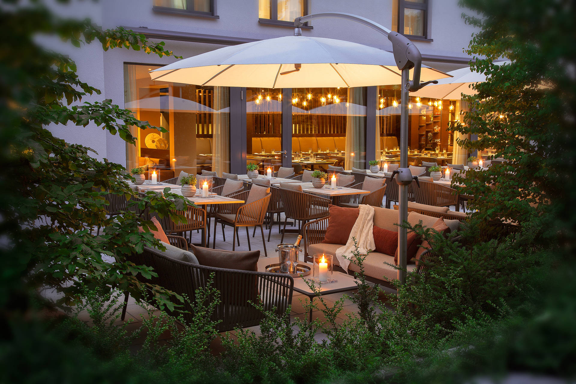 Garden at ACASA Suites Zurich for your relaxation and well-being