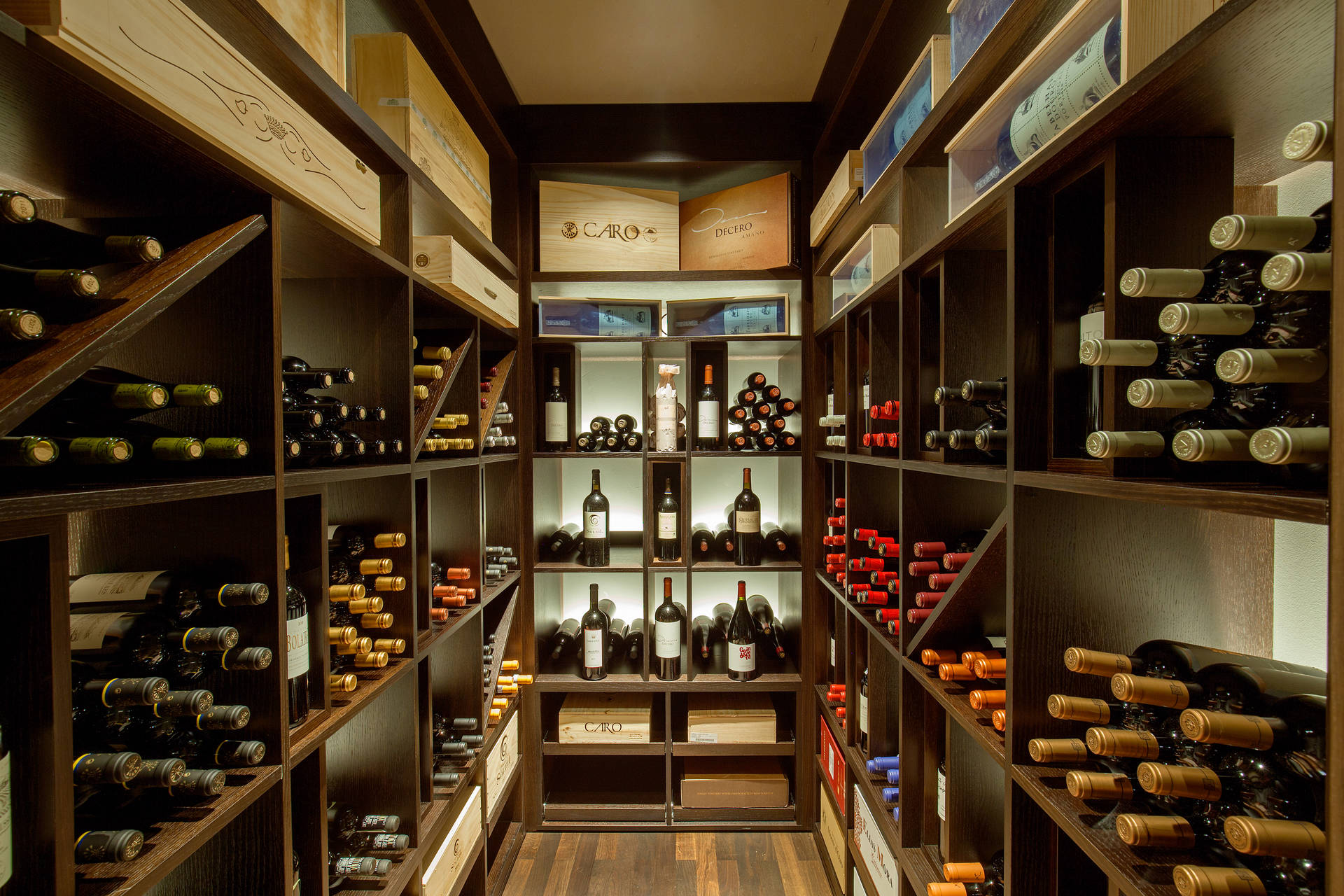 Wine cellar in ACASA Suites Zurich